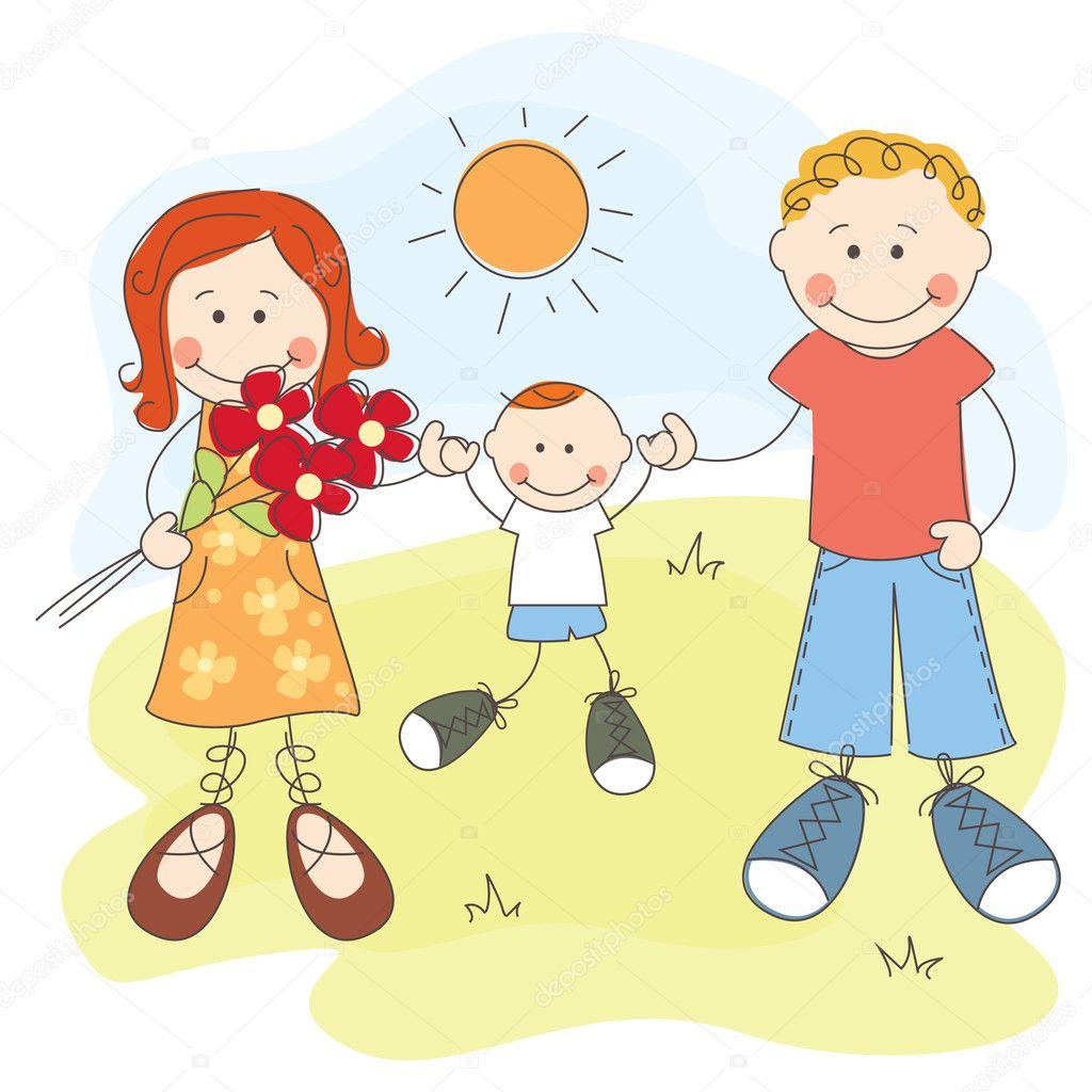 Рисованные картинки сын и мама 6 фотография