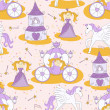Постер, плакат: Princess seamless pattern