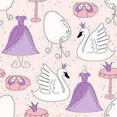 Princess seamless mönster — Stockvektor