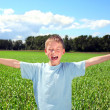 Boy in the field — Stock Photo