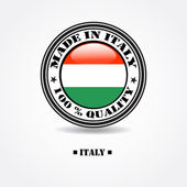 """Label """"made in Italy 100% quality"""" with Germany flag in rubber stamp — Stock Vector"""