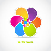 Abstract flower — Stock Vector