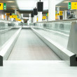 Moving sidewalk at an airport - Foto Stock