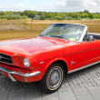 1965 Ford Mustang Convertible on display at the annual National Oldtimer day - Stock Photo