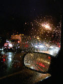Rainy night highway accident. — Stock Photo