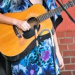Folk singer. — Stock Photo