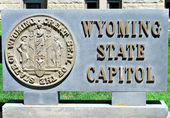 Wyoming state capitol. — Stockfoto