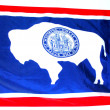 Wyoming flag. — Stock Photo