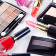 Assortment of cosmetic means for a decorative make-up — Stock Photo #11109756