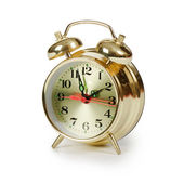 Alarm clock isolated on white background — Stock Photo