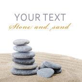 Pedras na areia — Foto Stock