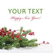 Frontera entre navidad y año nuevo — Foto de Stock
