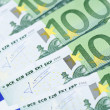 Stock Photo: Euro banknotes as background, close-up