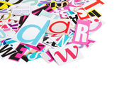 De brieven die zijn uitgesneden uit kranten — Stockfoto