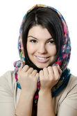 Krásná dívka v šálu, muslimové — Stock fotografie