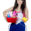 Portrait of the girl - concept Cleaning — Stock Photo #11357393