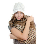 The beautiful girl in hat — Stock Photo