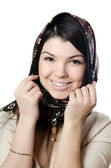 The beautiful girl in a scarf, the Moslem — 图库照片