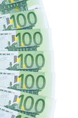 Euro banknotes as a background, close-up — Stock Photo