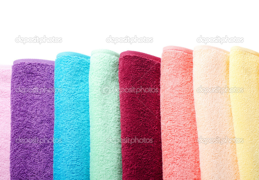 The combined  color towels as a background — Stock Photo #11491070
