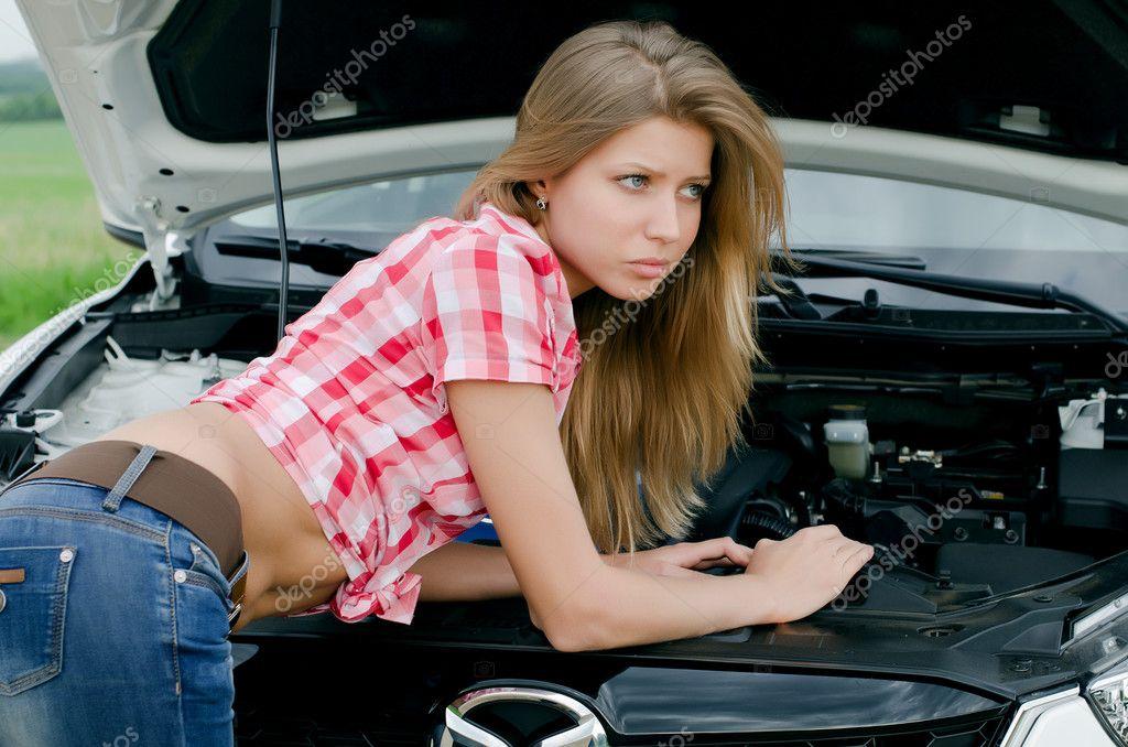 beautiful girl in car - photo #16
