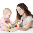 Happy mother with baby over white — Stock Photo #11876134