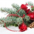 Christmas Decorations over white — Stock Photo #11876593