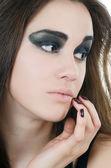 Retrato del estilo grunge-chica hermosa — Foto de Stock