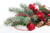 Christmas Decorations over white — Stock Photo