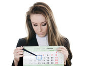 The business woman with a calendar — Stock Photo