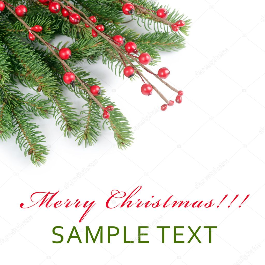 The christmas and New Year Border  isolated  Stock Photo #12186196