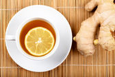 Tea with lemon — Photo
