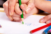 Yazma öğrenmek — Stok fotoğraf