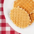 Waffles on a plate — Stock Photo
