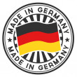 Stamp with flag of the Germany. Made in Germany. - Stockvectorbeeld