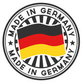 Stamp with flag of the Germany. Made in Germany. — Stock Vector