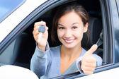 Happy female driver — Stock Photo