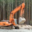 Heavy earth mover in forest — Stock Photo #11890753
