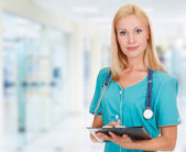Medical doctor woman in the office — Stock Photo