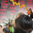 Stock market crashing — Stock Photo