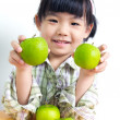 Child with green apple — Stock Photo #12088810
