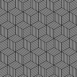 Stock Photo: Seamless geometric op art texture.