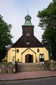 Kościół katolicki w leba, polska. — Zdjęcie stockowe