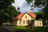 Catholic Church in Leba, Poland. — Stock Photo