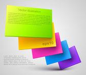Colorido placas 3d — Vector de stock