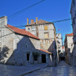 Old stone square in Sibenik, Croatia — Stock Photo