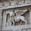 Winged Lion symbol of St Mark - Stock Photo