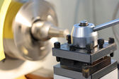 Spindle of a modern lathe — Stock Photo
