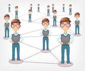 Social Network. Vector EPS 10. — Stock Vector