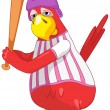 Royalty-Free Stock Vector Image: Funny Parrot. Baseball.
